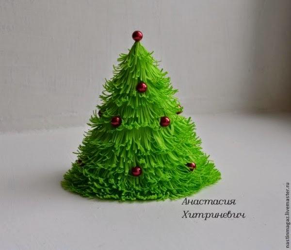 C mo hacer un arbolito de navidad con fomi manualidades - Como hacer cosas de navidad ...