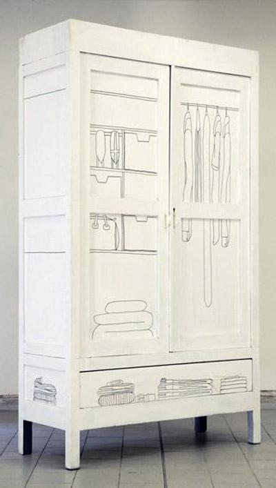 Idea para decorar las puertas de un armario - Decorar puertas de armario ...