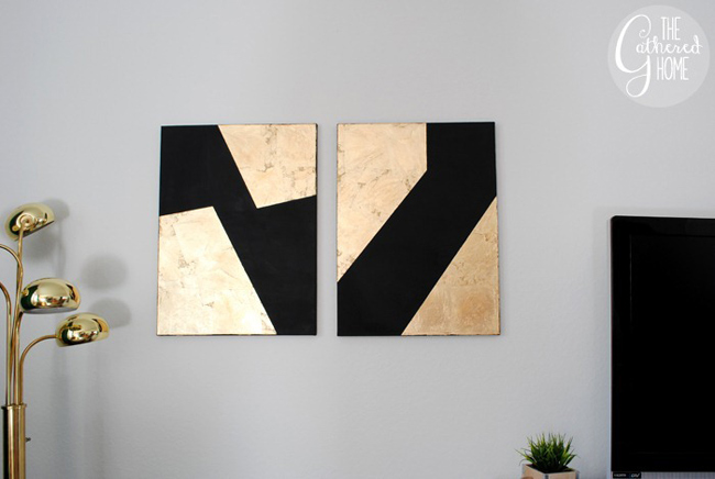 Decora tus paredes con obras de arte caseras for Diy canvas art black and white
