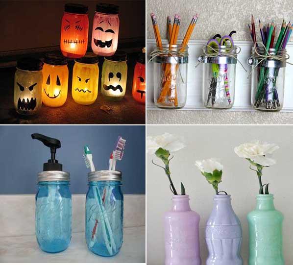 35 ideas creativas para reciclar y decorar con tarros de - Ideas creativas para reciclar ...