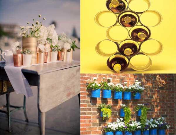 20 fotos e ideas para decorar y reutilizar latas de metal for Paginas de decoracion de interiores gratis