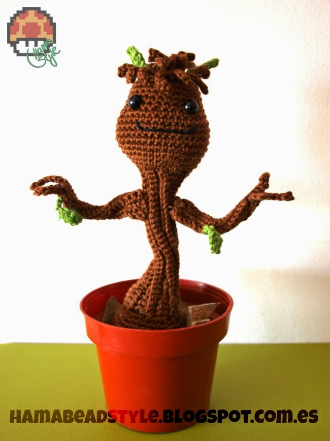 Amigurumi Groot Patron : Baby Groot - Manualidades Gratis