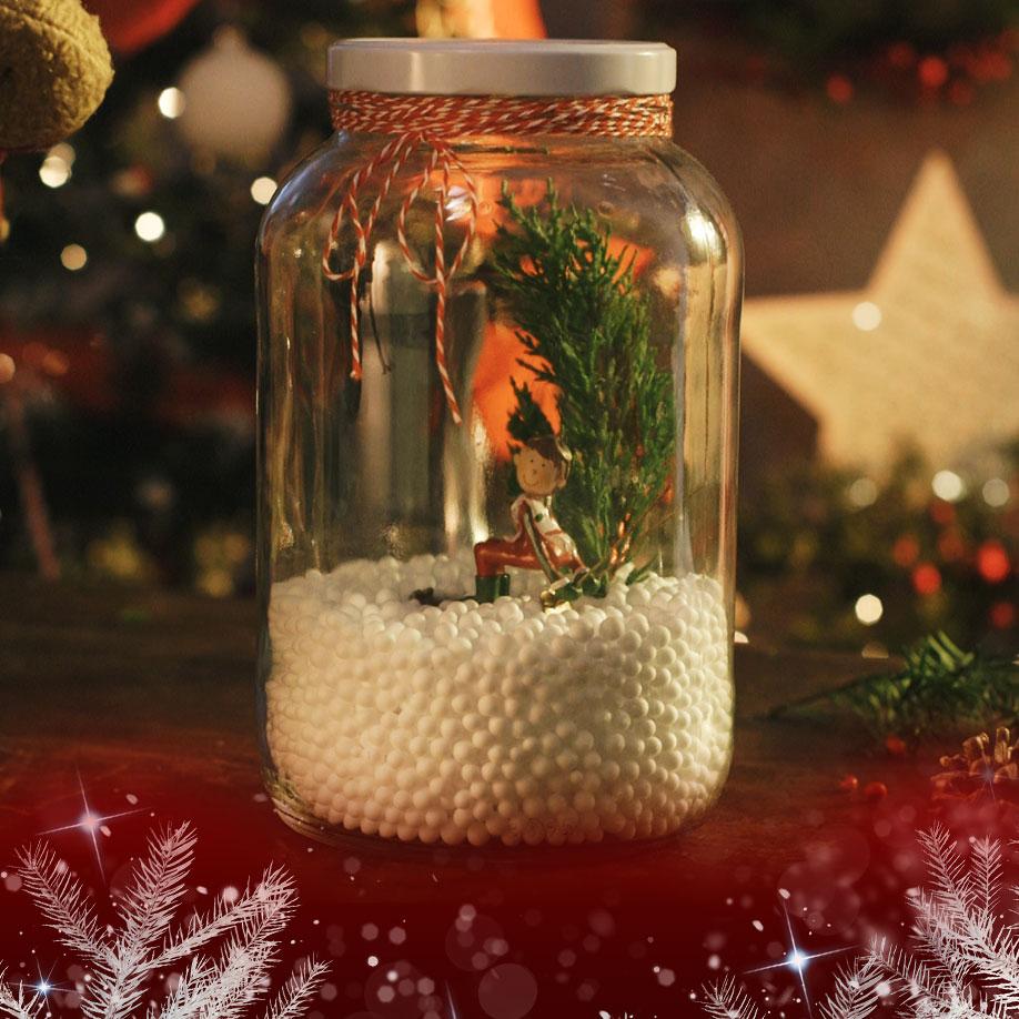 Manualidades Para Navidades Tarro Navideno Lidles - Videos-de-manualidades-para-navidad